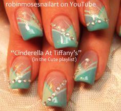 Nail-art by Robin Moses: , Tiffany blue prom nail