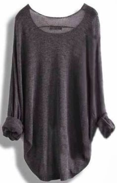 Grey Sweater - Love this, looks like cashmere