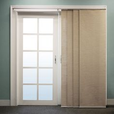 Image result for cheap curtain ideas for sliding doors