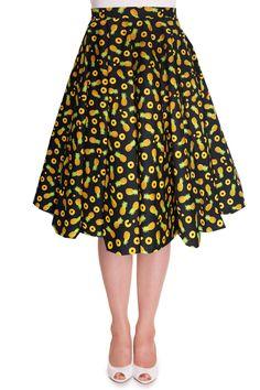 Full Circle Skirt Pineapple Skirt Black Skirt Swing Skirt Pin Up Skirt Rockabilly Skirt 50s Skirt Retro Skirt Party Skirt Pin Up Clothing by LadyMayraClothing on Etsy https://www.etsy.com/listing/497582055/full-circle-skirt-pineapple-skirt-black