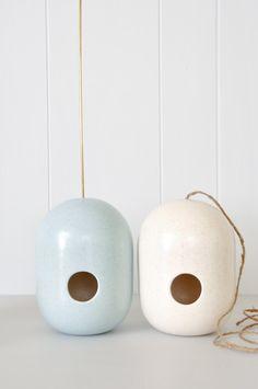 Birdhouse - handmade ceramics from New Zealand artist Gidon Bing - www.koromiko.com ---awesome wedding gift ideas---