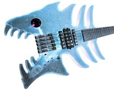 Sandberg Guitars A blast from our past. The Fishbass Guitar Art, Cool Guitar, Steampunk Guitar, Bass, Guitar Riffs, Everything Is Blue, Unique Guitars, Music Do, Weird Art