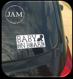Baby on Board  Vehicle / Car Decal Sticker by JamCraftsAndThings, $7.00