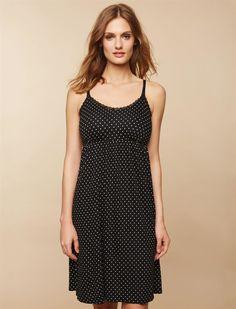 bf30816e97ec6 Clip Down Nursing Nightgown- Dot Print