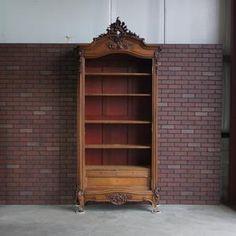 Antique Bookcase, Antique Armoire, Antique Cabinets, French Armoire, French Rococo, Farmhouse Furniture, Antique Furniture, Wooden Furniture, Bedroom Furniture