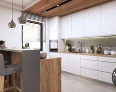 Kuchnia w ciepłych, jasnych barwach - zdjęcie od MONOstudio
