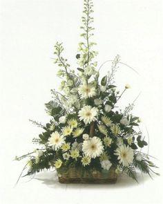 Bear Flower Arrangement | ... traditional front facing basket arrangement this basket contains a