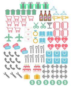 filofax-dekorieren-mini-symbole-ausdrucken-ernährung-sport