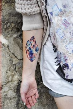 Crystal. Stunning colors. tattoo