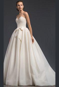 Эксклюзивное свадебное платье а силуэт со шлейфом | Exclusive wedding dress a line with train