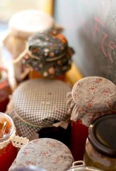 DIY - cute way to decorate food jars