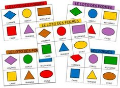 The geometric shapes lotto Craft Activities For Kids, Book Activities, Preschool Crafts, Montessori Math, Math Literacy, Kindergarten Lesson Plans, Preschool Kindergarten, Logic Math, Maternelle Grande Section