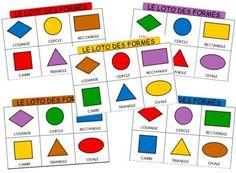 Jeu de loto pour travailler les formes et les grandeurs en maternelle