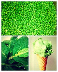 pea/mint ice cream Mint Ice Cream