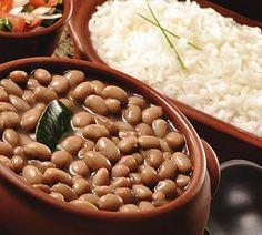 O melhor trivial: arroz com feijão. Minha dupla favorita!