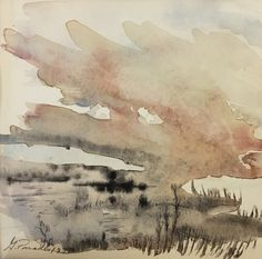 #324, aquarelle, 1978, 5,75'' x 5,5'', 40$ Paradis, Abstract, Artwork, Watercolor Paintings, Landscape, Summary, Work Of Art