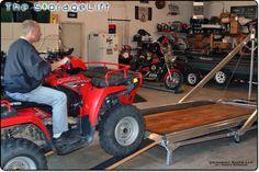 Snowmobile rack atv rack snowmobile storage wi atv for Garage auto quad passion