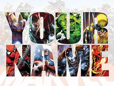 #Personalised marvel wall decal #stickers kids #avengers name gift xmas *3 sizes*,  View more on the LINK: http://www.zeppy.io/product/gb/2/321650450576/