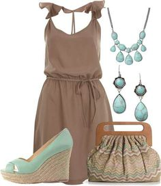 Love this color combination! | Sun dress <3