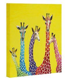 Clara Nilles Jellybean Giraffes Wrapped Canvas #zulily #zulilyfinds