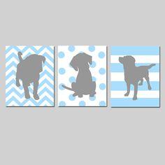 Puppy Dog Trio  Set of Three 11x14 Prints  Kids Wall by Tessyla, $59.50