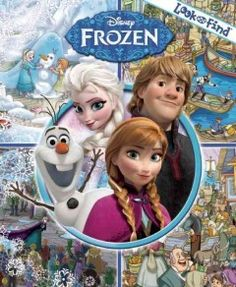 JJ PUZZLES LOO. Come along with Anna, Elsa, and their friends on an icy adventure! Look for hidden objects in eight exciting Look and Find scenes inspired by the Disney Frozen film.