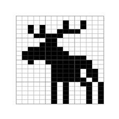 Moose Chart pattern by LKN Designs – knitting charts Fair Isle Knitting Patterns, Fair Isle Pattern, Knitting Charts, Knitting Designs, Knitting Stitches, Knitting Projects, Baby Knitting, Cross Stitching, Cross Stitch Embroidery