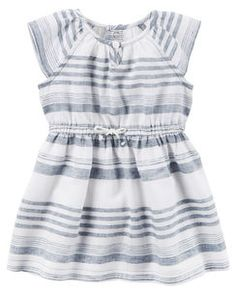 f9c99bc5c Chambray Striped Dress Carters Baby Girl, Baby Girls, Striped Dress,  Chambray Dress,
