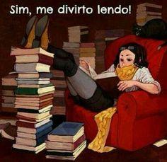 Sim, me divirto lendo