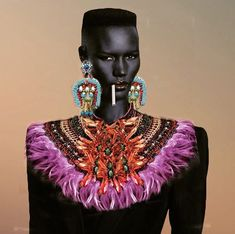 One Of A Kind Womens Statement Jewellery and Footwear By Anita Quansah Grace Jones, Unique Words, Confident Woman, Queen, Beautiful One, Statement Jewelry, Wearable Art, Wax, Fashion Accessories