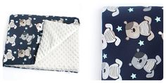 Set trolley for the baby blanket and pillow by owlONcotton on Etsy