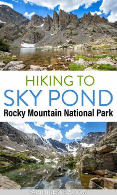 Everything you need to know to hike Sky Pond, one of the best hikes in Rocky Mountain National Park. #skypond #colorado #rmnp #rockymountainnationalpark