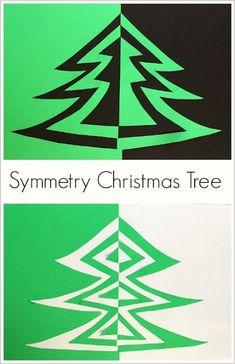 Onderwijs en zo voort ........: 3187. Kerstbomen : Omklap symmetrie