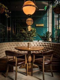 restaurant design To learn more about interior design and other services we offer, check out our website! Asia Restaurant, Bar Restaurant Design, Deco Restaurant, Restaurant Seating, Restaurant Ideas, Bohemian Restaurant, Luxury Restaurant, House Restaurant, Restaurant Entrance