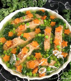 Smaczna Pyza: Łosoś pieczony w galarecie, z warzywami