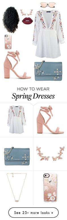 """Attention"" by missymoss on Polyvore featuring Boohoo, Raye, Anyallerie, Casetify, MICHAEL Michael Kors, Kendra Scott and Lime Crime"