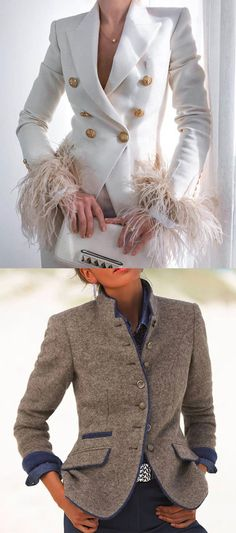 Women's Pure Color Long Sleeve Blazer Jacket Blazer Fashion, Fall Fashion Outfits, Womens Fashion, Classy Outfits, Stylish Outfits, Carnival Outfits, Summer Wedding Outfits, Elegant Dresses For Women, Jeans Denim