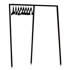 Loop Stand Wardrobe von Hay in der Variante schwarz