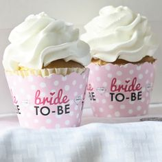 Bride-To-Be - Bridal Shower or Classy Bachelorette Party Cupcake Wrappers & Decorations | BigDotOfHappiness.com Bachelorette Desserts, Bachelorette Party Cupcakes, Classy Bachelorette Party, Bachelorette Party Decorations, Cupcake Party, Wedding Reception Decorations, Wedding Ideas, Romantic Desserts, Wedding Planner Book