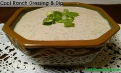 Easy vegan ranch dressing recipe. Creamy and cool, this is an excellent salad dressing or dip for piles of veggies!