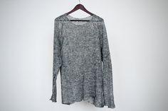 Knitted sweater from natural linen unisex por DoroTheus en Etsy, €75.00