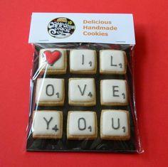 CampervanCookies: scrabble tile cookies