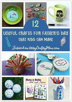 12 Useful Gifts for Father& Day that Kids can Make is part of Little Kids Crafts Dads Dads tend to prefer utilitarian gifts over ones that are just pretty, so check out our list of useful gifts for - Homemade Fathers Day Gifts, Diy Father's Day Gifts, Great Father's Day Gifts, Father's Day Diy, Fathers Day Crafts, Gifts For Father, Simple Gifts, Christmas Gift For Dad, Holiday Crafts For Kids