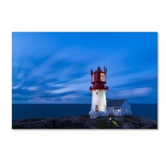 Trademark Fine Art 'Lindesnes Fyr' Canvas Art by Georgy Krivosheev, Blue