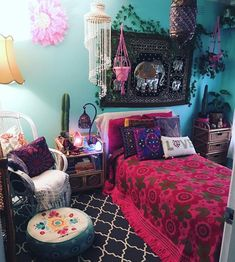 The Upside to Boho Bedroom Decor Hippie Bohemian Style Gypsy Beds - apikhome. Boho Home, Bohemian House, Hippie Home Decor, Hippie Bohemian, Bohemian Style, Modern Bohemian, Hippie Style, Bohemian Grove, Dark Bohemian