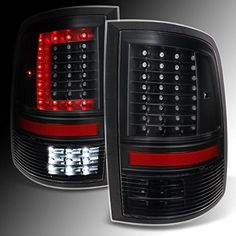 DODGE RAM 1500  2500  3500 CShaped Black LED Tail Lights Left  Right Side Replacement Pair Set ** Continue to the product at the affiliate link Amazon.com.