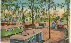 Florida Trailer Park Vintage Scene | Trailer Camp in Florida189; 65152(
