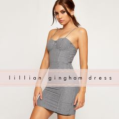 This bodycon mini dress is the ultimate gingham item! Stylish, yet casual, it's sexy af! Its strappy design makes it perfect for the hot summer. Show off your shoulders in this cute dress! Get inspired with our fashion 2017 catalogue!   https://www.wearall.com/lillian-lined-gingham-strappy-bustier-mini-dress