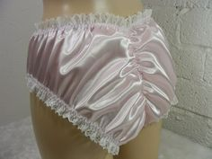 sissy frilly pink silky satin lace scrunch butt panties lingerie knickers all sizes kinky fetish ~CD TV cross dress Panty Design, Plastic Pants, Blue Satin, Crossdressers, Fancy Dress, Kinky, Lace Shorts, Lingerie, Sexy
