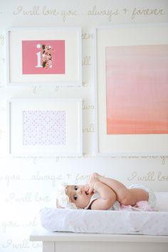 Danielle Hardy's Nursery - word wall
